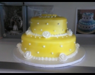 2 tier yellow airbrushed