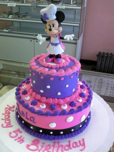 Specialty Cakes Gallery 2 tier minnie mouse