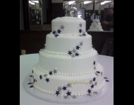 4 tier cake with stars