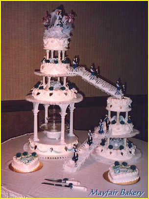 fountain wedding cake bridges with 8 tiers and 14421